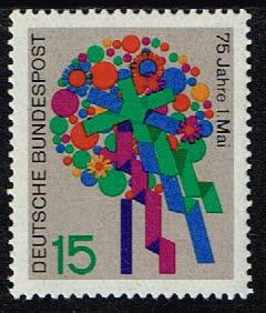 "Duitsland (BRD) 1965 zegel '75 Jahre ""1. Mai"" nr 475"