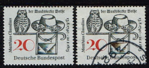 Duitsland (BRD) 1965 zegel 'Matthias Claudius. 150. Todestag' nr 462