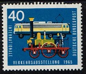 Duitsland (BRD) 1965 zegel Verkehrsausstellung München 40 pf nr 472