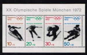 Duitsland (BRD) 1971 blok 'Olympische Spiele München 1972' nr 684-687