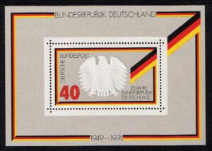 Duitsland (BRD) 1974 blok '25 Jahre Bundesrepublik' nr 807
