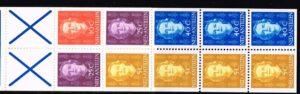 Ned. Antillen 1979 Automaatboekje PB 4a type Hartz (blauw kruis) No. 605 rechts