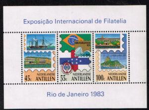 Ned. Antillen 1983 Blok Brasiliana '83 NVPH 746