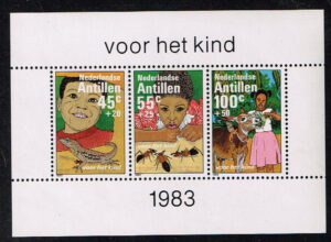 Ned. Antillen 1983 Blok Kinderzegels NVPH 753