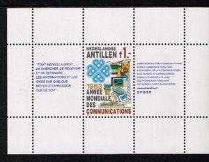 Ned. Antillen 1983 Blok wereldcommunicatie NVPH 742