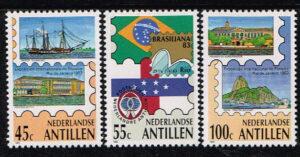 Ned. Antillen 1983 Brasiliana '83 NVPH 743-745