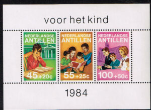 Ned. Antillen 1984 Blok Kinderzegels NVPH 797
