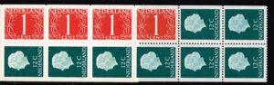 Nederland 1969 postzegelboekje PB 8a | Uitgifte januari 1969 4 x 1 ct cijfer van Krimpen + 8 x 12 ct Juliana