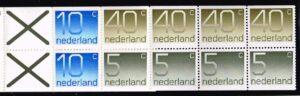 Nederland 1976 postzegelboekje PB 21a Uitgifte 10 maart 1976 4 x 5 ct + 2 x 10 ct + 4 x 40 ct cijfer Crouwel