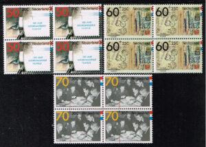 Nederland 1984 100 jaar georganiseerde Filatelie blok van 4 zegels NVPH 1309-11