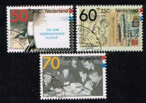 Nederland 1984 100 jaar georganiseerde Filatelie gestempeld NVPH 1309-11