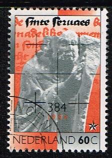 Nederland 1984 1600e sterfdag Sint Servaas gestempeld NVPH 1306