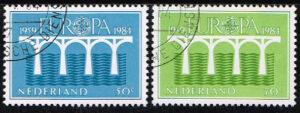 Nederland 1984 Europa, 25 jaar CEPT gestempeld NVPH 1307-08