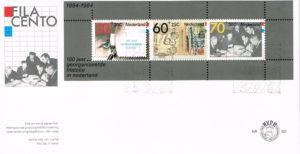 Nederland 1984 FDC Blok Filacento onbeschreven E220