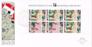 Nederland 1984 FDC Blok Kinderzegels onbeschreven E223A