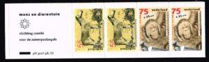 Nederland 1988 Postzegelboekje PB 38 Uitgifte 22 maart 1988 2 x 55 ct + 2 x 75 ct Zomerzegels