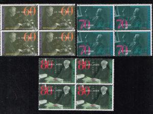 Nederland 1991 Nobelprijswinnaars blok van 4 zegels NVPH 1478-80
