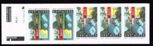 Nederland 1991 postzegelboekje PB 41 Uitgifte 16 April 1991 2 x 55 ct + 3 x 75 ct Zomerzegels