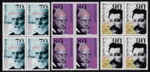 Nederland 1993 Nobelprijswinnaars blok van 4 zegels NVPH 1568-70