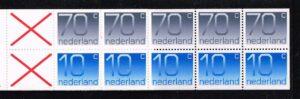 Nederland 1993 postzegelboekje PB 47a Uitgifte 2 Januari 1993 5 x 70 ct + 5 x 10 ct cijfer Crouwel