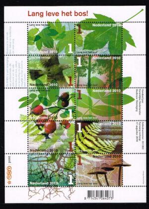 Nederland 2010 Lang leve het bos velletje NVPH 2758-67