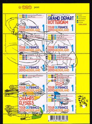Nederland 2010 Tour de France velletje NVPH 2720-29