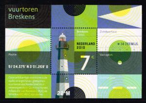 Nederland 2010 Vuurtoren blok NVPH 2717