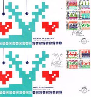 Nederland 2012 FDC Decemberzegels onbeschreven E663 (2)