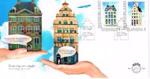 Nederland 2012 FDC KLM huisjes Europa en Wereld 1 onbeschreven E643