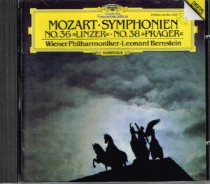 """Wolfgang Amadeus Mozart, Leonard Bernstein, Wiener Philharmoniker Symphonien No. 36 """"Linzer"""" No. 38 """"Prager"""" EAN 028941596222"""