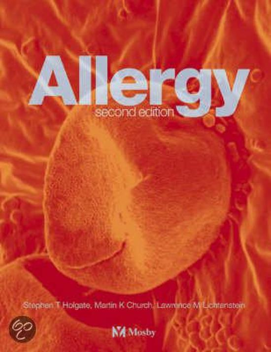 Allergy Second edition ISBN 0723430667