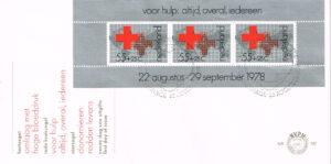 Nederland 1978 FDC Blok Rode Kruis onbeschreven E167A