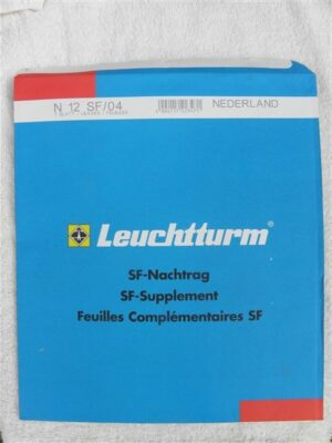 Leuchtturm Nederland 2004 Supplement (basis) met klemstroken. N12 SF/04