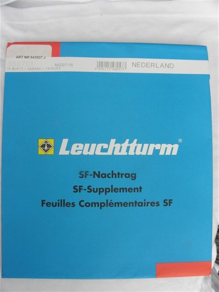 Leuchtturm Nederland 2015 Supplement met klemstroken. N12 SF/15