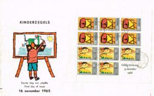 Nederland 1965 Groot formaat FDC Kinderzegels Blok
