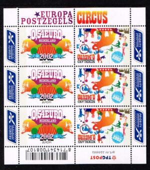Nederland 2002 Europa Circus Velletje NVPH V2099-2100