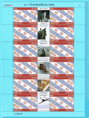 Nederland 2002 Provincievlaggen 1 Friesland NVPH V2065
