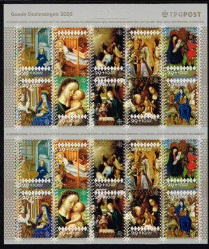Nederland 2005 velletje Decemberzegels NVPH V2381-2390