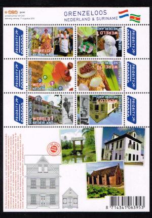 Nederland 2010 Grenzeloos Nederland Suriname NVPH V2752-2757c