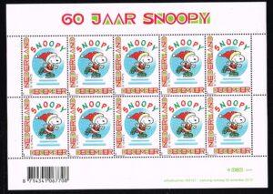 Nederland 2010 Persoonlijke Decemberzegel Snoopy Velletje NVPH V2777