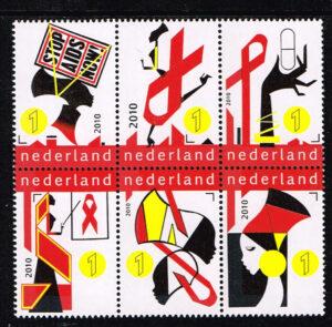 Nederland 2010 Stop Aids Now NVPH 2770-2775