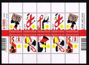 Nederland 2010 Stop Aids Now Velletje NVPH V2770-2775