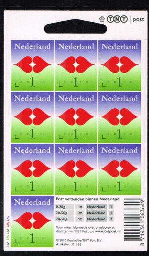 Nederland 2010 Voor de liefde 1 logo TNT Velletje NVPH V2745a