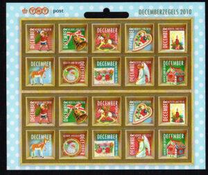 Nederland 2010 velletje Decemberzegels NVPH V2778-2787
