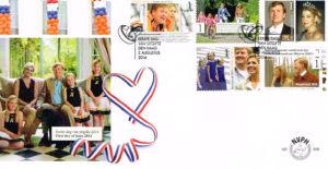 Nederland 2014 FDC 12.5 jarig koninklijk huwelijk onbeschreven E699