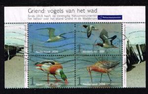 Nederland 2016 Griend Vogels van het wad gestempeld NVPH 3401-3404
