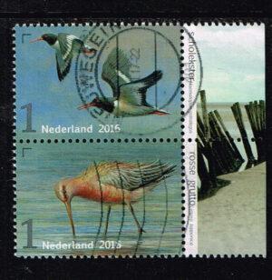 Nederland 2016 Griend Vogels van het wad gestempeld NVPH 3402 en 3404
