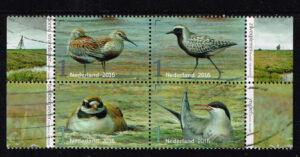 Nederland 2016 Griend Vogels van het wad gestempeld NVPH 3405-3408