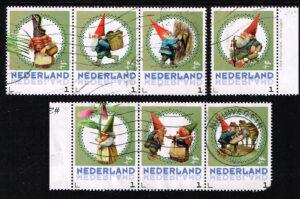 Nederland 2016 persoonlijke postzegels uit vel De Kabouter 7 stuks gestempeld