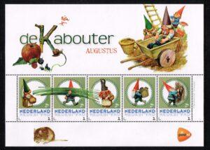 Nederland 2016 persoonlijke postzegels vel De Kabouter Augustus